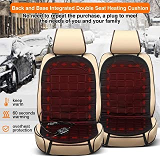 FeiL Store AUDEW 2 PACK Universal Car Podgrzewane poduszki podgrzewane ogrzewane pokrywy siedzenia 12 V 30W-38W 45-65 stop...