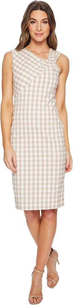 Gingham Asymmetrical Neck Knot CD8E27KW