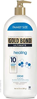 Gold Bond Ultimate Healing Skin Therapy Lotion with Aloe, Family Size, Gold Fresh, 20 Ounce