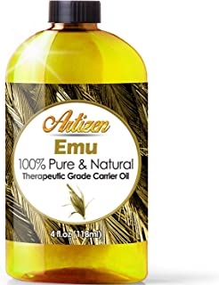 100% Pure Emu Oil by Artizen (HUGE 4OZ BOTTLE) - Premium Skin & Hair Moisturizer - Natural Hair Strengthener to Help Prevent Hair Loss - Perfect Additive to Shampoo, Conditioner, Soap, and Lotion