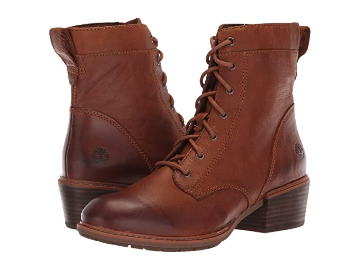 Vintage Style Shoes, Vintage Inspired Shoes Timberland Sutherlin Bay Mid Lace Boot Medium Brown Full Grain Womens Lace-up Boots $99.95 AT vintagedancer.com