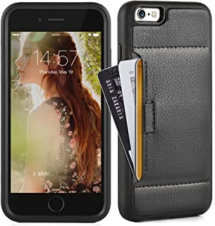 ZVE Case for Apple iPhone 6s Plus and iPhone 6 Plus, 5.5 inch, Slim Leather Wallet Case with Credit Card Holder Slot Pocket Protective Case Cover for Apple iPhone 6 / 6s Plus 5.5 - Black