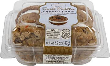 Our Specialty Sweet Middles, Peanut and Tree Nut Free, Mini Cream Filled Sandwich Cookies, Carrot Cake, 12 Cookies per Pack