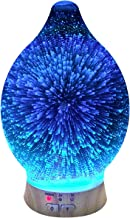 ingeniuso Essential Oil Diffuser Aromatherapy Diffusers for Therapeutic Oils - Ultrasonic 3D Glass Cover & LED Light Display - Cool Mist Aroma Therapy Colorful Night Light Waterless Shut Off