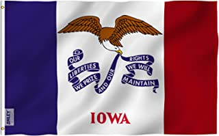 Anley Fly Breeze 3x5 Foot Iowa State Flag - Vivid Color and UV Fade Resistant - Canvas Header and Double Stitched - Iowa IA Flags Polyester with Brass Grommets 3 X 5 Ft