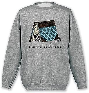 Women's Hide Away In A Good Book Cat Shirt - Sweatshirt - Medium