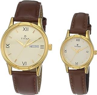 Titan Analog Gold Dial Unisex Watch NM15802490YL05/NN15802490YL05