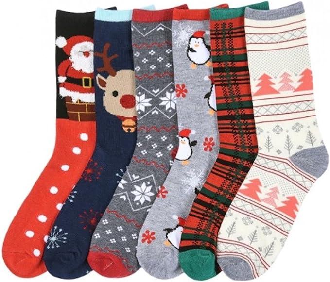 Women's Christmas socks.