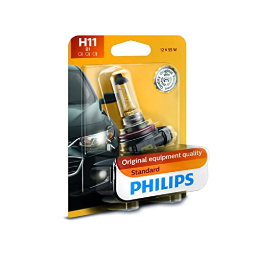 Philips H11 Standard Authentic Halogen Replacement Headlight Bulb,1 pack