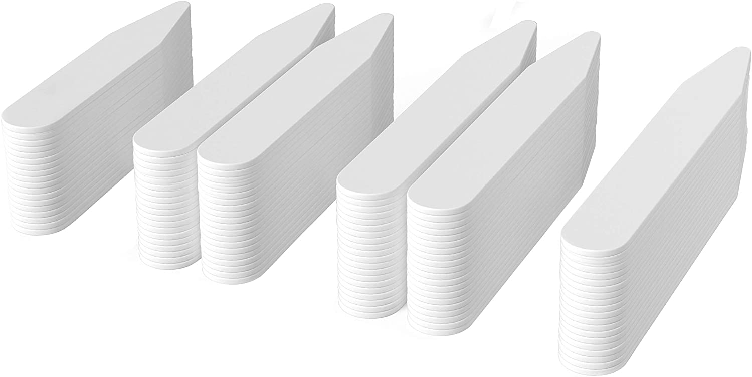 250 Plastic Collar Stays - 4 Sizes for Men, by Quality Stays