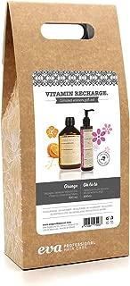 Eva Professional Hair Care Vitamin Recharge - Pack con Bálsamo Vitamínico 500 ml y Gelatina Multi-Accion para el Cabello 250 ml