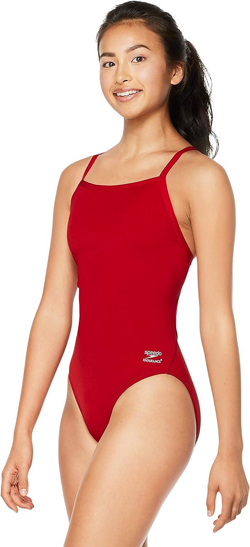 Speedo Women's Swimsuit One Piece San Antonio Mall Adult Flyback Ranking TOP2 Solid Endurance+