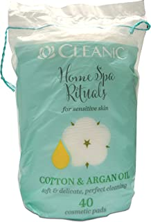 Cleanic Home Spa Rituals Cotton Pads with Argan Oil - 40 Pieces