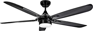 red and black ceiling fan