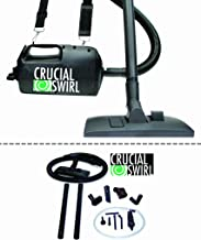 Think Crucial Crucial Swirl 4.5-lb Handheld Vacuum Cleaner, Includes Deluxe Cleaning Attachments & Micro Cleaning Attachment Set