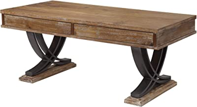 ACME Furniture Coffee Table, Antique Oak and Black