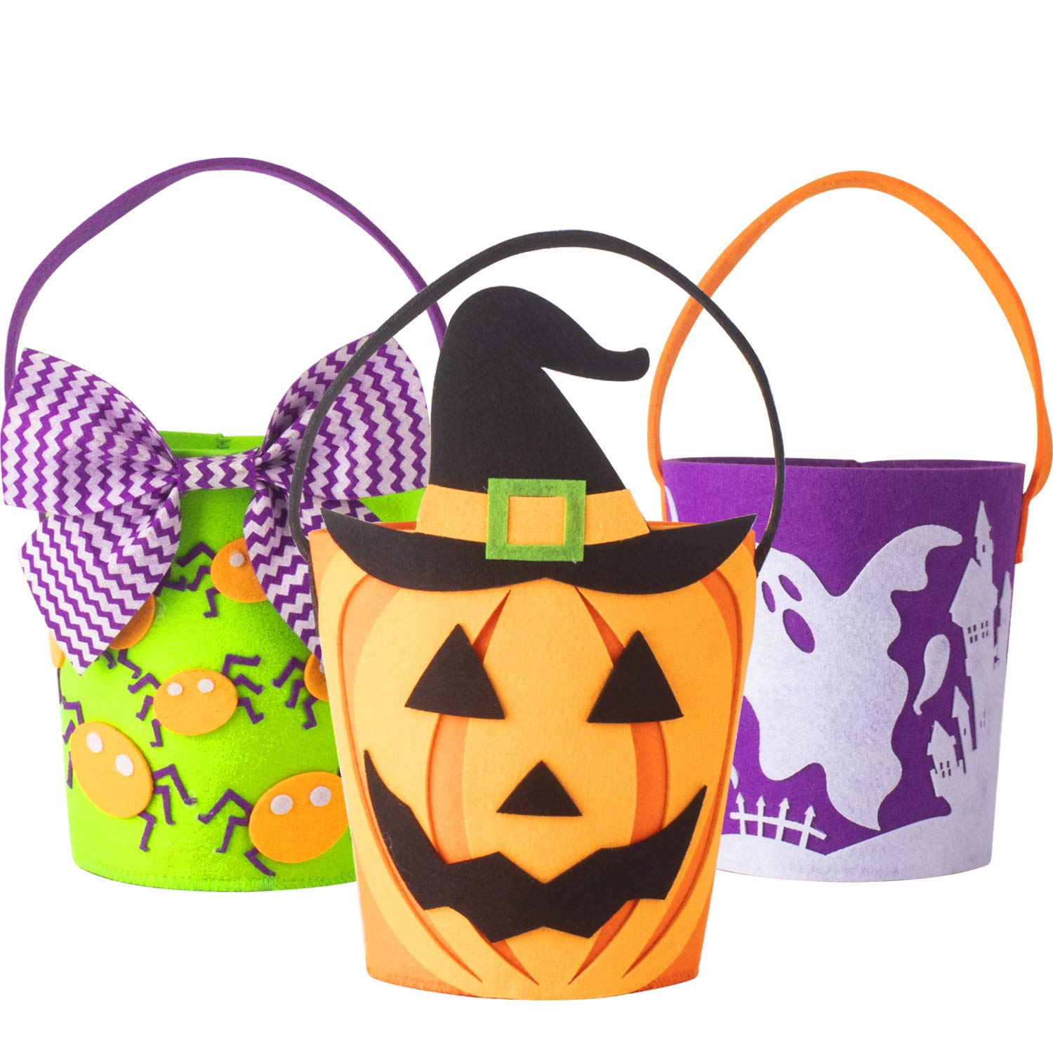 할로윈 트릭 오어 트릿 바구니 토트 3개 세트 KI Store Trick or Treat Bags Halloween Candy Buckets Baskets Totes Gift Bags