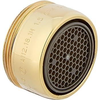 Moen 3919P Aerator Polished Brass Male Thread 2.2 GPM