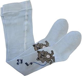 Bianchi Sockmaker in Italy since 1932 - Collant tinta unita con disegno in gamba, Neonato