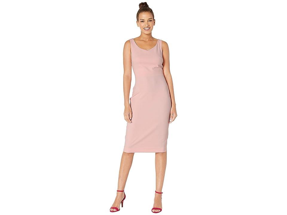 Betsey Johnson Scuba Crepe Midi Dress (Blossom Bliss) Women