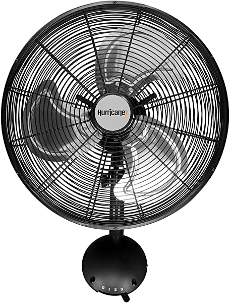 Hurricane Wall Mount Fan 16 Inch Pro Series High Velocity Heavy Duty Metal Wall Mount Fan For Industrial Commercial Residential And Greenhouse Use ETL Listed Black