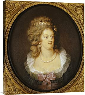 Global Gallery Budget GCS-266462-30-142 Jean Guerin Bust Portrait of Marie-Antoinette Gallery Wrap Giclee on Canvas Wall Art Print