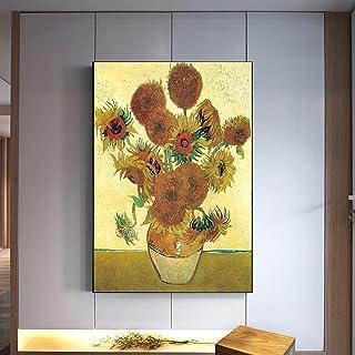 Van Gogh peinture sur toile de tournesol doré images célèbres affiches et impressions Art mural abstrait pour la décoratio...