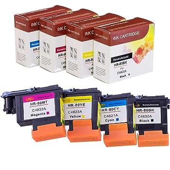 C4820A 2X 80BK 2X Excellent for hp80 Black printhead C4820A Compatible for HP 80 DesignJet 1050c 1050c Plus 1055C 1055cm 1055cm Plus