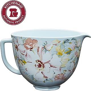 KitchenAid KSM2CB5PWG 5 Quart Stand Mixer Bowl, 5 Qt, White Gardenia Ceramic