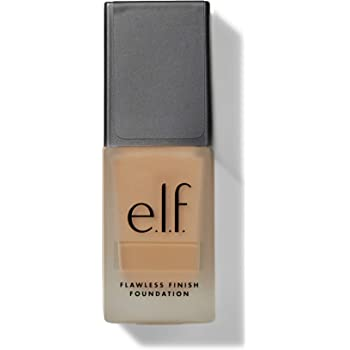 e.l.f, Flawless Finish Foundation, Lightweight, Oil-free formula, Full Coverage, Blends Naturally, Restores Uneven Skin Textures and Tones, Sand, Semi-Matte, SPF 15, All-Day Wear, 0.68 Fl Oz