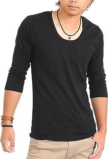 (スペイド) SPADE 七分袖Tシャツ メンズ Vネック Uネック Tシャツ 七分丈 無地 【q922】
