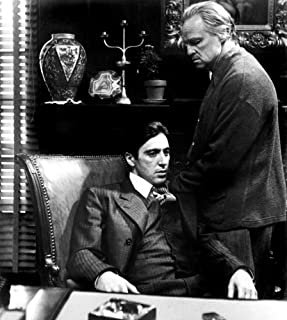 Posterazzi MINEVCMBDGODFEC007H The The Godfather Al Pacino Marlon Brando 1972 Photo Print, 8 x 10