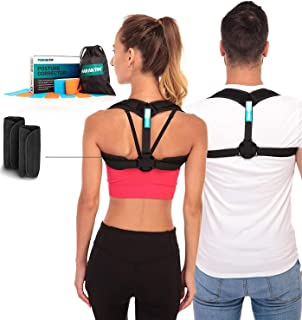 Posture Corrector - Adjustable Clavicle Brace to Comfortably Improve Bad Posture for Men and Women - Posture Corrector for...
