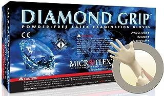 Microflex MF-300-L Diamond Grip Exam Gloves, PF Latex, Textured Fingers, Large, 100 per Box, 10 Box per Case (Pack of 1000)