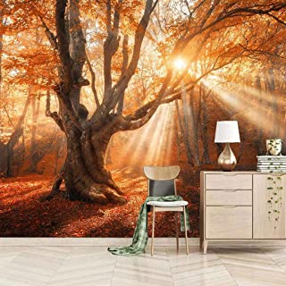 VITICP Adults Kids Wall Stickers Decals Peel and Stick Removable Wallpaper Sunny Autumn Maple Leaves for Nursery Bedroom L...