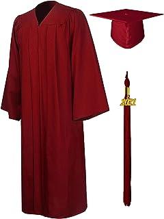 GraduationMall Toga y Birrete Graduacion Adulto 2021 con Borla Gorro Graduacion Unisex para Bacholr de Secundaria y Univer...
