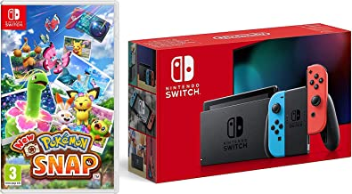 Nintendo Switch (Neon Red/Neon Blue) + New Pokemon Snap (Nintendo Switch)