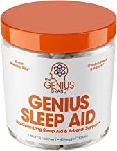 Genius Sleep AID – Smart Sleeping Pills & Adrenal Fatigue Supplement, Natural Stress, Anxiety & Insomnia Relief - Relaxati...