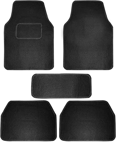 Carigiri Black Universal Fit Carpet Floor Car Mats for Universal