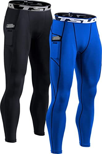 TSLA Men's Compression Pants, Athletic Sports Yoga Leggings & Workout Running Tights, Cool Dry Base Layer Bottoms