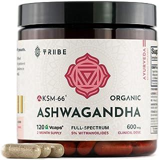 Tribe Organics, 600mg KSM-66 Ashwagandha Root Extract Powder Ayurvedic Herb for Mood Support, Increase Energy, Strength - ...