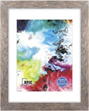 RPJC 14x18 Soild Wood Poster Frames with High Definition Glass Cover Display Pictures 11x14 with Mat or 14x18 Without Mat for Wall Mounting Hanging Picture Frame Driftwood Finish