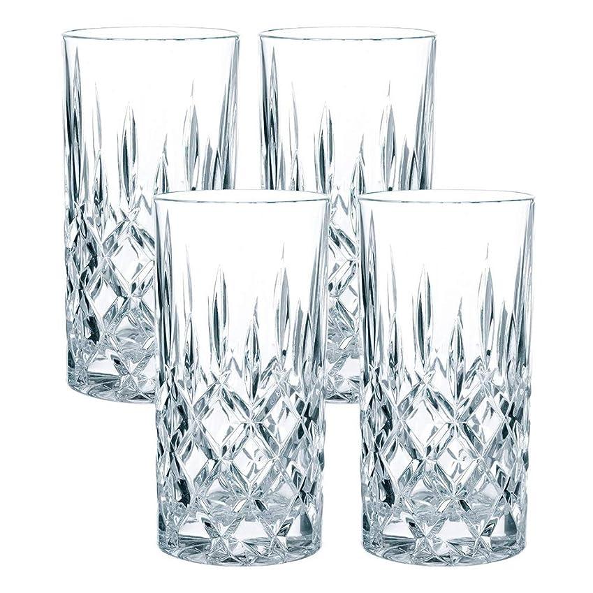 禁止する試験サイレントナハトマン(Nachtmann) ノブレス ロングドリンクグラス クリスタルガラス 148mm/375ml 89208 4個入