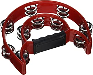 Mustang - Pro Half Moon Tambourine Double Cutaway Double Cutaway Tambourine with Double Row of Jingles { multi colors }