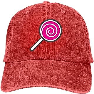 LeoCap Lollipop Baseball Cap Unisex Washed Cotton Denim Hat Adjustable Caps Cowboy Hats