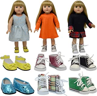 The New York Doll Collection D360 6 Pairs of Doll Shoes Fits 18