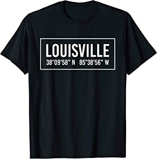 LOUISVILLE KY KENTUCKY Funny City Coordinates Home Gift T-Shirt
