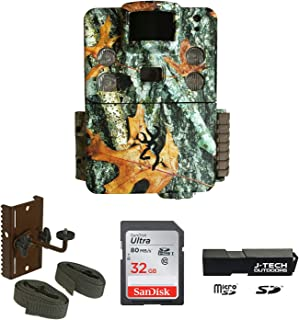 Browning Strike Force HD Pro X (2019) Trail Game Camera Bundle Includes Browning Tree Mount with 32GB Memory Card and J-TECH Card Reader (20MP)   BTC5HDPX