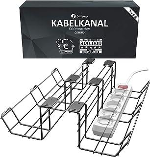 Gestion des câbles Stilemo, Set de 2 - Organisateur de câbles pour ranger les câbles, acier au carbone supporte jusqu'à 10...