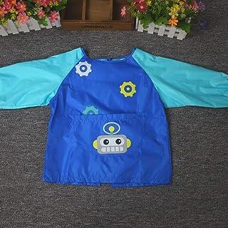 0-3 Years Old Children's Bib Anti-wear Waterproof Baby Disposable Clothes Bib Bib Long Sleeve Unisex Baby Bibs (Color : B,...